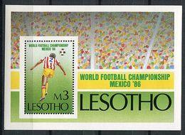 """Lesotho ** Bloc N° 35  - """"Mexico 86""""  Coupe Du Monde De Foot. Stade - - Laos"""