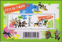 FRANCE 4340 FDC FETE DU TIMBRE 2009 Looney Tunes Coyote B Bug's Bunny Sam Sylvestre Titi Daffy Tex Avery - Stripsverhalen