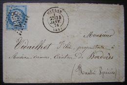 Miélan (Gers) G.C.2358 Sur N°60B (type 2) Sur Lettre Pour Aneran Camors (Hautes Pyrénées) - Postmark Collection (Covers)