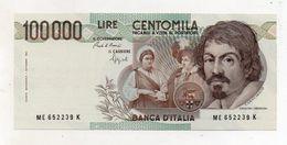 """Italia - Banconota Da Lire 100000 """" Caravaggio 1° Tipo -  FDS - Decreto 06.03.1992 - (FDC8450) - [ 2] 1946-… : Républic"""