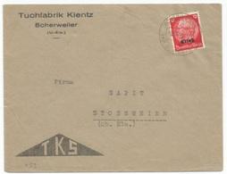 H53 - SCHERWEILER Kr SCHLETTSTADT - 1940 - Entête TUCHFABRIK KIENTZ - TKS - - Alsazia-Lorena