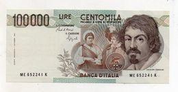 """Italia - Banconota Da Lire 100000 """" Caravaggio 1° Tipo -  FDS - Decreto 06.03.1992 - (FDC8451) - [ 2] 1946-… : Républic"""