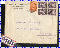 Lettre1930 D' Athènes11 Stoa Pesmatzoglou à Paris 8éme - Briefe U. Dokumente