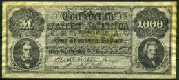 """$1000 Confederate States Of America 1861 """"REPLICA"""" - Confederate Currency (1861-1864)"""