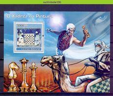Nep069 SPORT SCHAKEN PAARD KAMEEL CAMEL CHESS HORSE SCHACHSPIEL PFERD ECHECS Michel 615 GUINÉ-BISSAU 2007 PF/MNH - Schaken