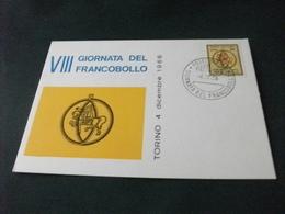 VIII GIORNATA DEL FRANCOBOLLO TORINO 4 DICEMBRE 1966 - Esposizioni