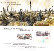 France 2017** Souvenir Philatélique Le Plus Beau Timbre De L'année 2016 / Bataille De Verdun - Guerre Mondiale (Première)