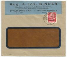 H66 - STRASSBURG (ELS) 4 - 1941 - Entête Aug. Et Jos. BINDER Machinen Fur Muhlen Brauerein - - Alsace-Lorraine