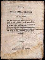Girostamps54 - Antiguo Documento Del Vicario General De Mallorca, Para La Tranquilidad Del Vecindario Palma 28/4/1813 - Documents Historiques