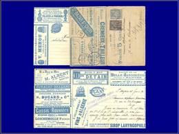 """Qualité: O – Carte Lettre Annonces, """"""""La Missive S.204"""""""", (Nantes), 15c. Bleu Sage, Publicités Illustrées: Coffre-fort,  - Postal Stamped Stationery"""