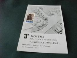 3 MOSTRA FILATELICA E NUMISMATICA DARSENA TOSCANA LIVORNO PALAZZO DEL PORTUALE - Esposizioni
