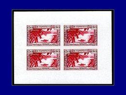 Qualité: XX – 27 B, Feuillet De 4 Non Dentelé, Non émis, (Poste 2): 20c. Carmin. Cote: (1400) - Laos
