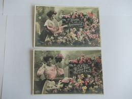 Lot De 2 Cartes D'une Même Série Edition AS Saint Just - Postcards