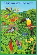 FRANCE Bloc   56 ** MNH Oiseaux 'outre-mer Colibri Toucan Terpsiphone De Bourbon Réunion Oiseau Bird Vogel - Mint/Hinged