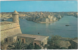 The Grand Harbour With The Old Fortified City Of Senglea  - (Malta) - Malta