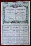 Emprunt Du Gouvernement Du Honduras 1869 . Action De Jouissance . Obligation . - Acciones & Títulos