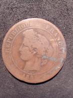 10 Centimes Ceres 1885 A - Francia