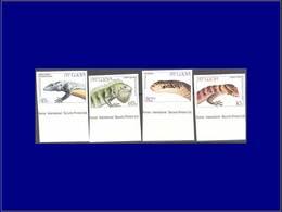 Qualité: XX – 652/55, Non Dentelés Bdf, (tirage 75): Lézard & Serpents . - St.Lucia (1979-...)