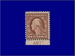Qualité: XX – 170, Dentelé 22, Bdf Numéroté (4932): 4c. Brun. (SC 334). Cote: 95 - United States