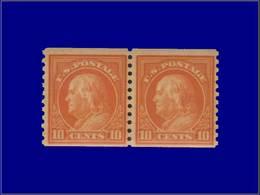 Qualité: XX – 208 B, Dentelé 10 Vertical, Paire: 10c. Orange. (SC 497). Cote: 340 - United States