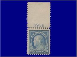 Qualité: XX – 213 A, Dentelé11, Bdf Numéroté: 20c. Bleu. Cote: 80 - United States