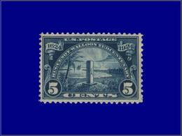 Qualité: XX – 255: 5c. Bleu Huguenots. Cote: 60 - United States