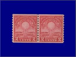 Qualité: XX – 282 A, Paire, Dentelée 10 Verticale: Edison. Cote: 56 - United States