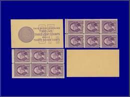 Qualité: XX – Scott BC 9 A, Carnet Complet (démonté Pour Exposition),  2 Panneaux 6 X 3c. Violet. (Scott 270 B) . - United States
