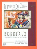 étiquette Vin De Bordeaux Le Prévot De Créon 1997 Chai Du Prévot à Créon - 75 Cl - Bordeaux