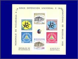 Qualité: XX – 86, Non Dentelé (tirage 100): Exposition Bruxelles 1958 . - Nicaragua