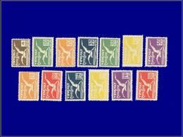 Qualité: X – 14/26, Complet 13 Valeurs: Albatros. Cote: 529 - Uruguay
