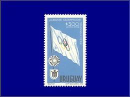 Qualité: XX – 385, Couleur Rouge Très Déplacé, (anneau Olympiques): 300p. J.O De Munich 1972 . - Uruguay