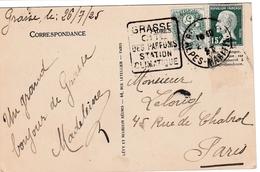 Grasse 1925 - Daguin Cité Des Parfums - Alpes-maritimes - - Marcophilie (Lettres)