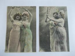 Lot De 2 Cartes D'une Même Série Edition à Déterminer - Postcards