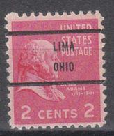 USA Precancel Vorausentwertung Preo, Bureau Ohio, Lima 806-71 - Precancels
