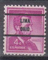 USA Precancel Vorausentwertung Preo, Bureau Ohio, Lima 1036-71 - Precancels
