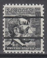 USA Precancel Vorausentwertung Preo, Bureau Ohio, Lima 1282-71 - Precancels