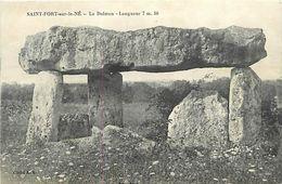 - Charente Maritime -ref-G958- Saint Fort Sur Le Né - St Fort Sur Le Né - Dolmen - Dolmens - Dolmen Et Menhirs -etat - - France