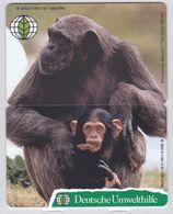 Deutsche Umwelthilfe -Der Schimpanse- Puzzle Aus O 1183 Und O 1185 Aus 1997 -Auflagenhöhe Liegt Bei 1000 Ex- - Puzzles