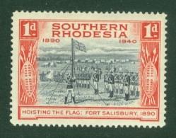 Southern Rhodesia: 1940   BSAC's Golden Jubilee   SG54    1d    MH - Rhodesia Del Sud (...-1964)