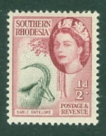 Southern Rhodesia: 1953   QE II - Pictorial   SG78     ½d    MH - Southern Rhodesia (...-1964)
