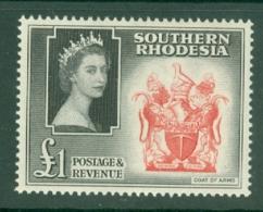 Southern Rhodesia: 1953   QE II - Pictorial   SG91     £1    MH - Südrhodesien (...-1964)
