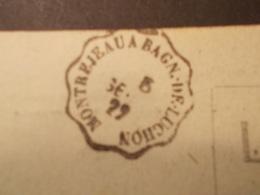 Marcophilie  Cachet Lettre Obliteration Timbre - Convoyeur Montrejeau à Bagnol De Luchon - 1929 - (1759) - Postmark Collection (Covers)