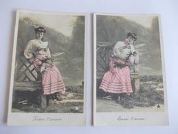 Lot De 2 Cartes D'une Même Série De Stebbing Paris - Postcards