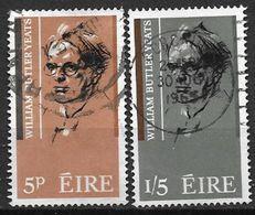 Irlande 1965 N°171/172 Oblitérés William Butter Yeats - Usados