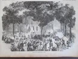 Gravure 1858 La Fête Dieu à TOULON - Toulon
