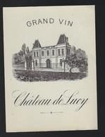 Etiquette Vin  Ancienne étiquette Grand Vin Chateau  De Lucy - Bordeaux
