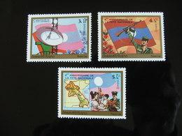 Laos 6ème Anniversaire De La Fête Nationale 1981 Yvert 357A/357C Scott 352/354  Neuf Sans Charnière - Laos