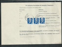 Allemagne. DDR Telegrammme Affranchi Avec Timbres Président Walter Ulbricht;Fuhlendorf - Lettres & Documents