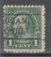USA Precancel Vorausentwertung Preo, Locals Ohio, Logan 552-479, Stamp Thin - Precancels